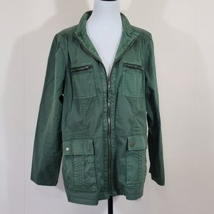 Green spring lightweight utility jacket size XL